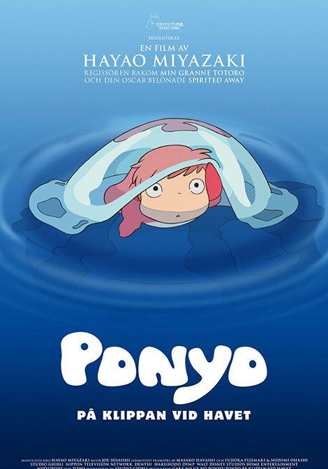 Ponyo på klippan vid havet (Jap. tal) poster