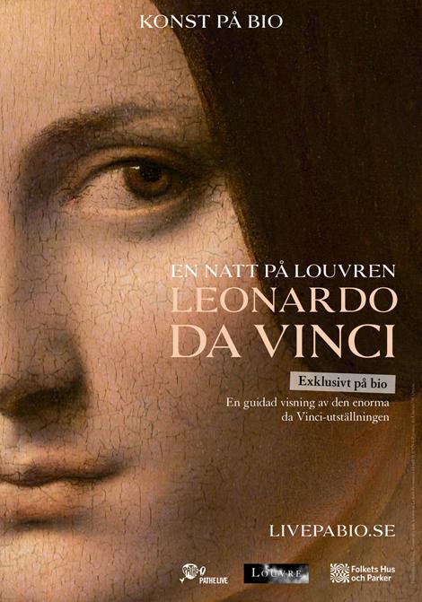 En natt på Louvren: Leonardo da Vinci poster